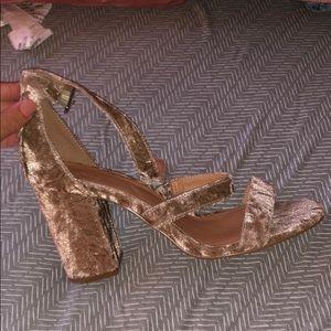 Urban Outfitters Velvet Heels !! Never worn!